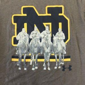 Notre Dame Under Armour Shirt Heatgear 4 Horsemen
